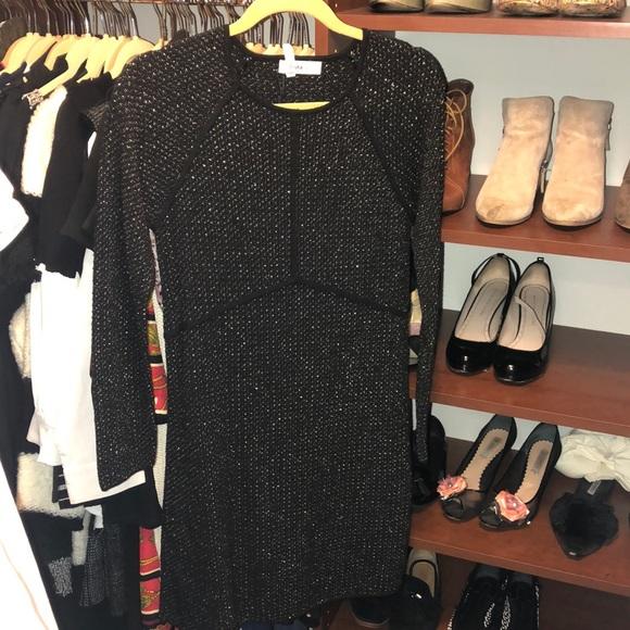 Zara Dresses & Skirts - Black and Gold Zara Knit Dress-Med